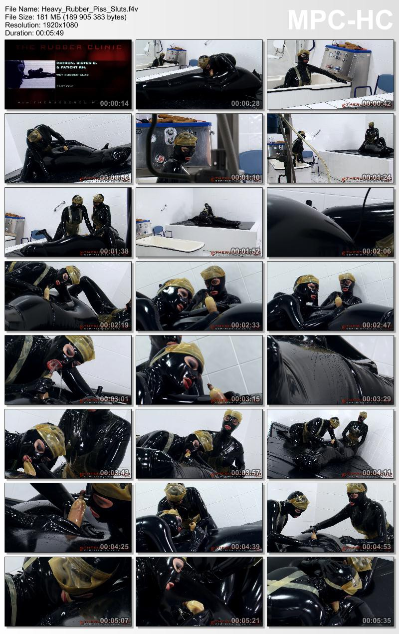 Heavy Rubber Piss Sluts.  Therubberclinic com (181 MB)