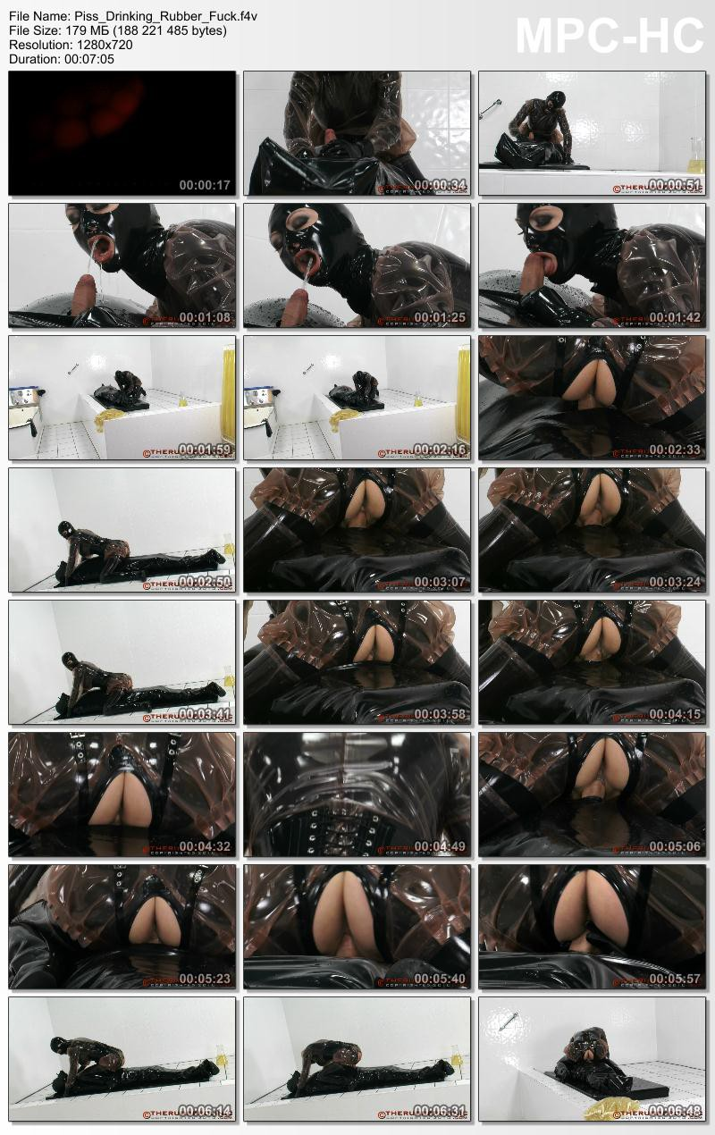 Piss Drinking Rubber Fuck.  Therubberclinic com (179 MB)