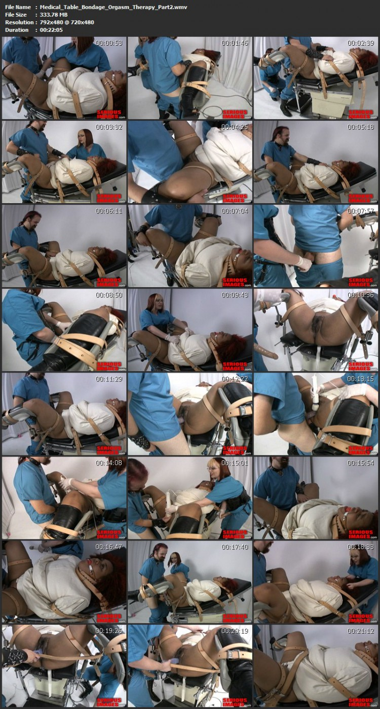 Medical Table Bondage Orgasm Therapy. Aug 14 2011. Seriousimages.com (519 Mb)