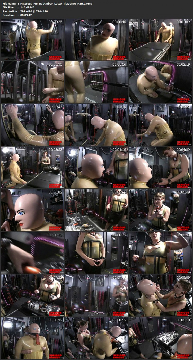 Mistress Minax Amber Latex Playtime. Nov 1 2012. Seriousimages.com (454 Mb)