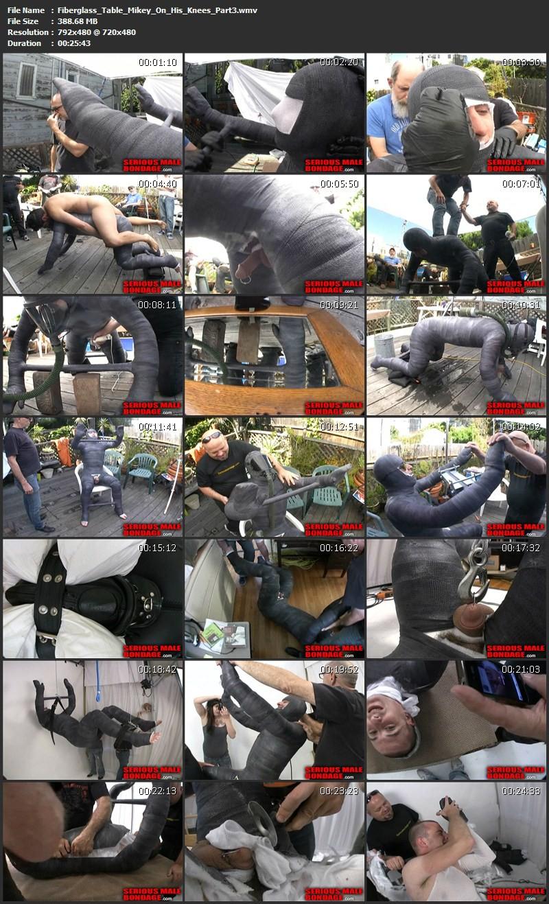 Fiberglass Table Mikey On His Knees - Part 1-3 - Mikey and Tony. Aug 12 2011. Seriousmalebondage.com (1198Mb)