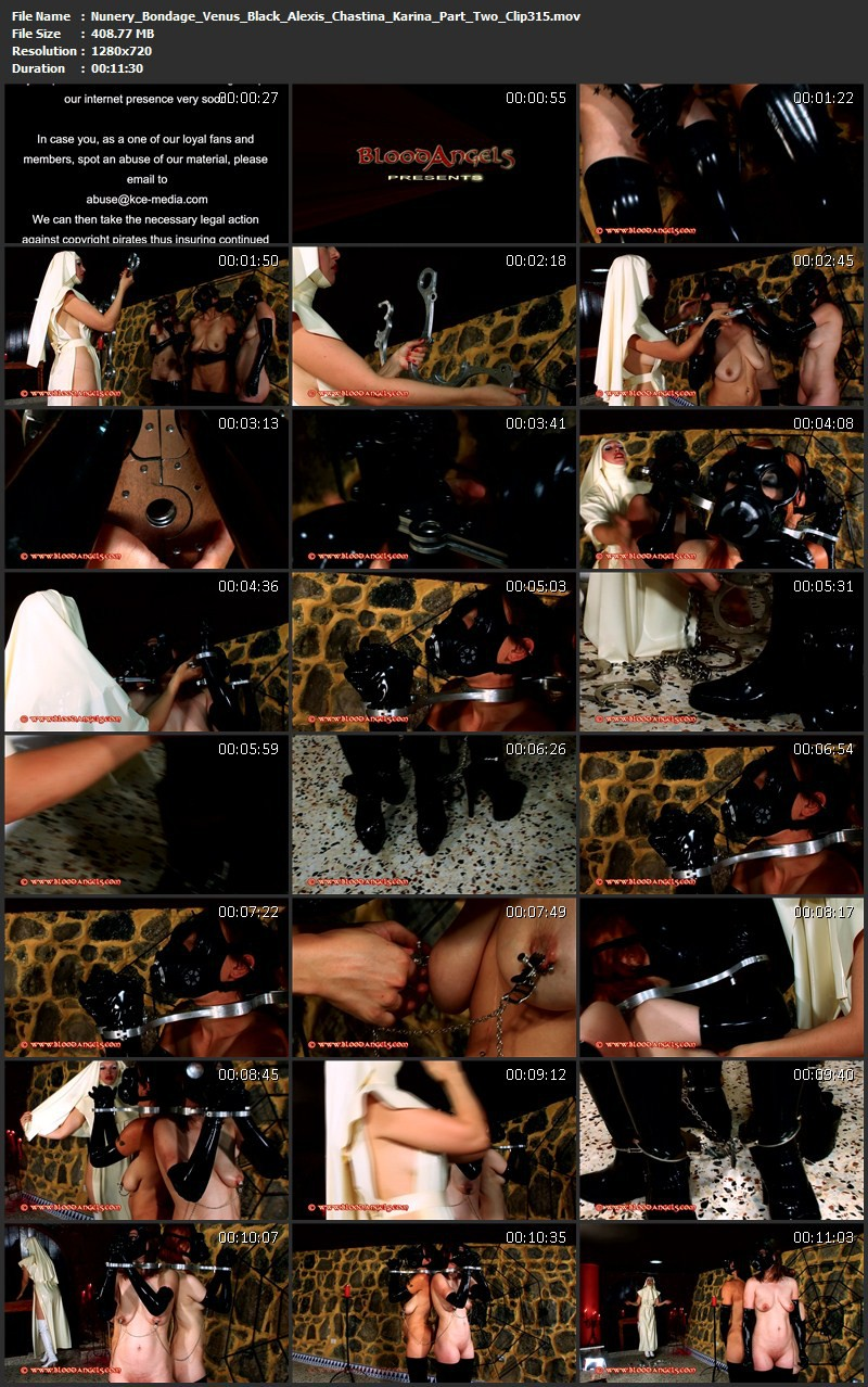 Nunery Bondage – Venus Black, Alexis, Chastina and Karina Part Two (Clip 315). Dec 23 2013. Bloodangels.com (408 Mb)