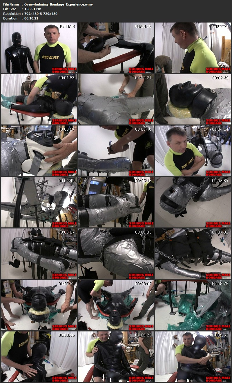 Overwhelming Bondage Experience. Jun 07 2012. Seriousmalebondage.com (156Mb)