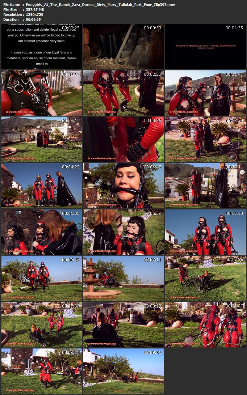 Ponygirls At The Ranch - Zara Durose, Dirty Mary, Tallulah Part Four (Clip 397). Sep 28 2015. Bloodangels.com (357 Mb)