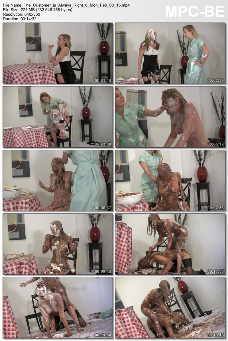 The Customer is Always Right 6 – Amy and Vika humiliation. Feb 08 2016. Messygirl.com (221 Mb)