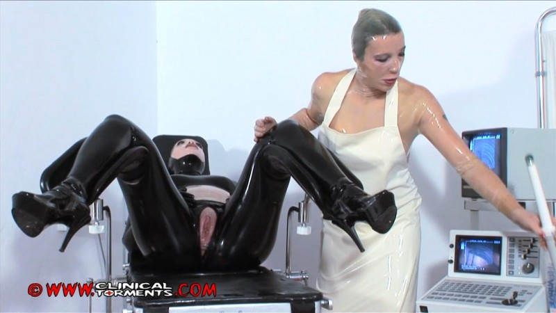Birth Of A Rubber Puppet - Rubber doctor: Chastina, Patient: Venus Black Part One (Clip112). Dec 21 2012. Clinicaltorments.com (451 Mb)