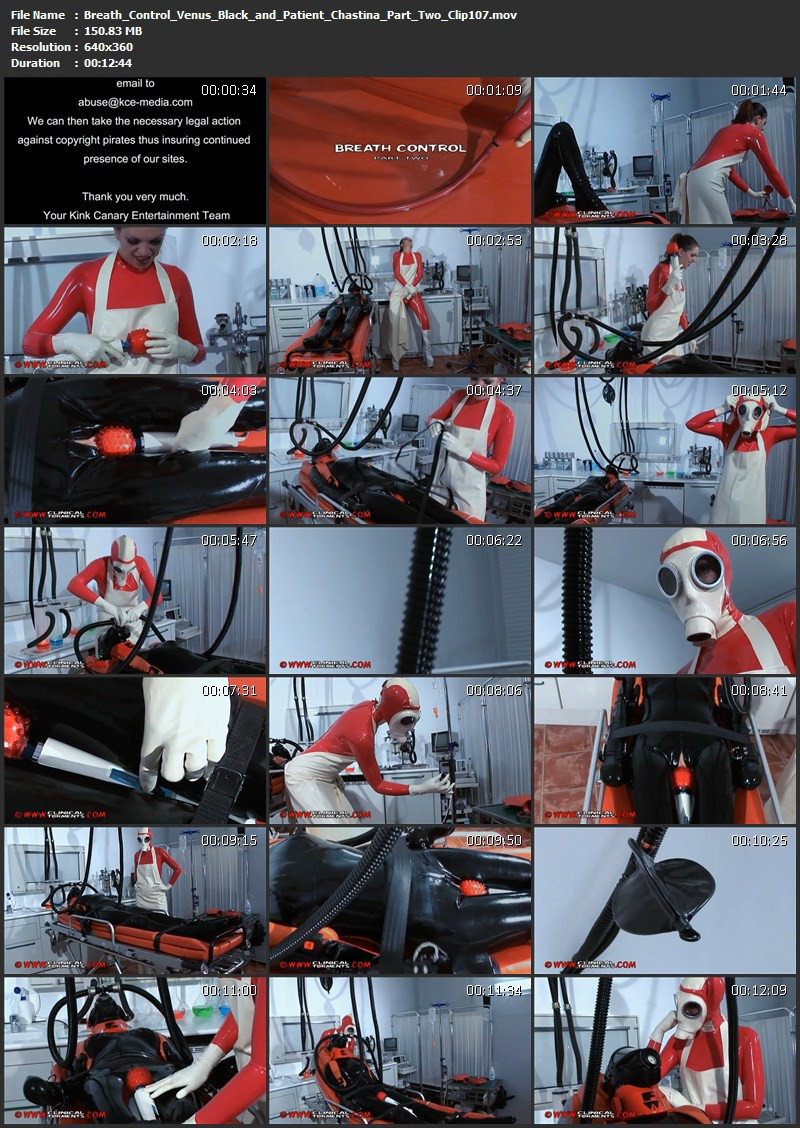 Breath Control – Venus Black and Patient Chastina Part Two (Clip107). Nov 27 2012. Clinicaltorments.com (150 Mb)