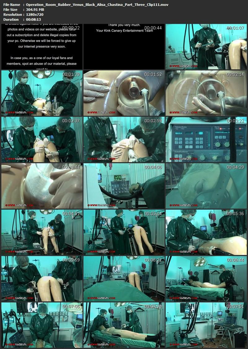 Operation Room - Rubber doctors: Venus Black and Alisa, Patient: Chastina Part Three (Clip111). Dec 18 2012. Clinicaltorments.com (304 Mb)