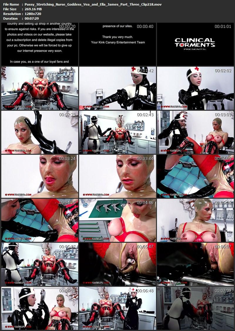 Pussy Stretching – Nurse Goddess Vea and Ella James Part Three (Clip218). Mar 17 2015. Clinicaltorments.com (269 Mb)