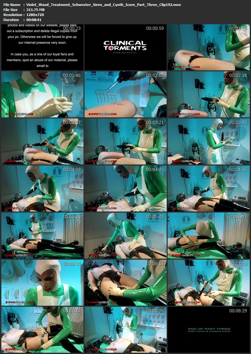 Violet Wand Treatment - Schwester Siren and Cynth Icorn Part Three (Clip192). Aug 26 2014. Clinicaltorments.com (311 Mb)