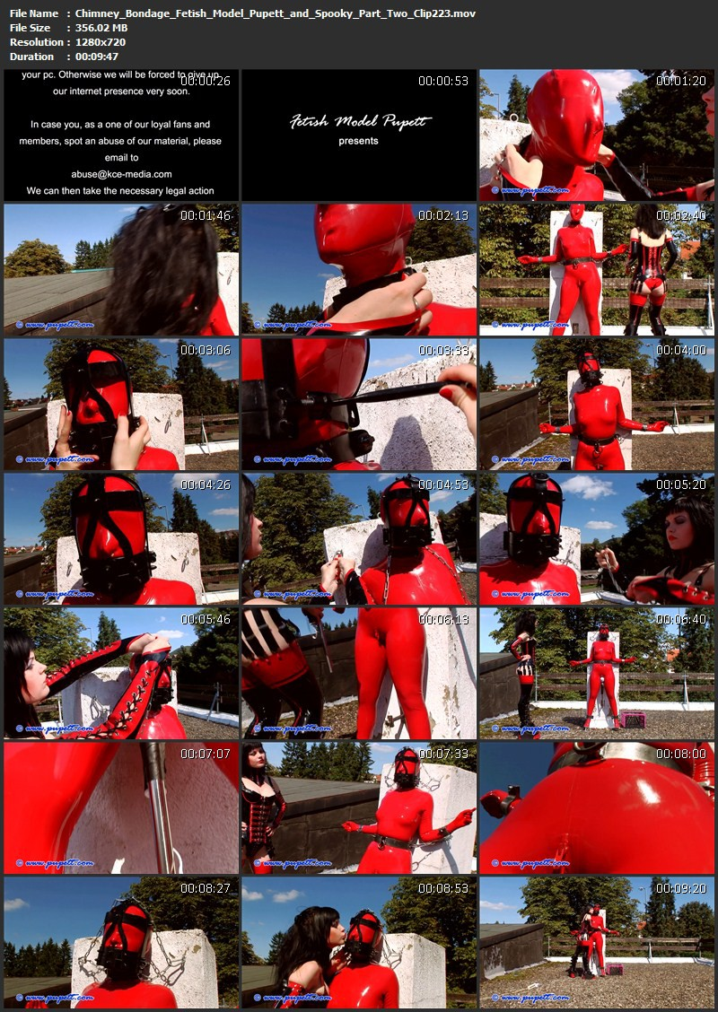 Chimney Bondage - Fetish Model Pupett and Spooky Part Two (Clip223). Jun 15 2015. Pupett.com (356 Mb)