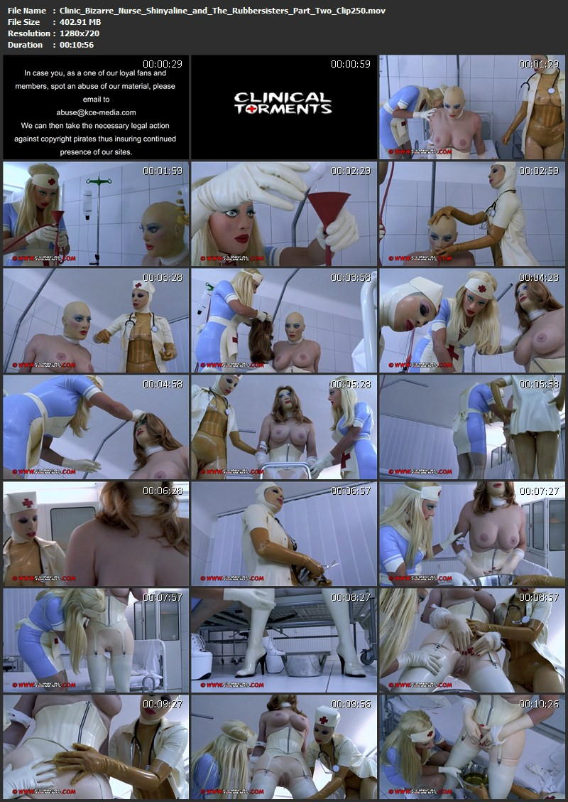 Clinic Bizarre - Nurse Shinyaline and The Rubbersisters Part Two (Clip250). Nov 18 2015. Clinicaltorments.com (402 Mb)