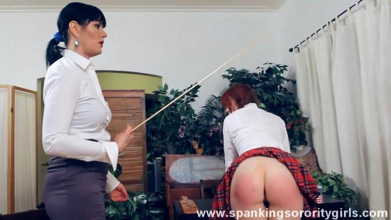 Miss Snow Punishes Veronica - Veronica Ricci, Snow, Episode 77. SpankingsororityGirls.com (198 Mb)