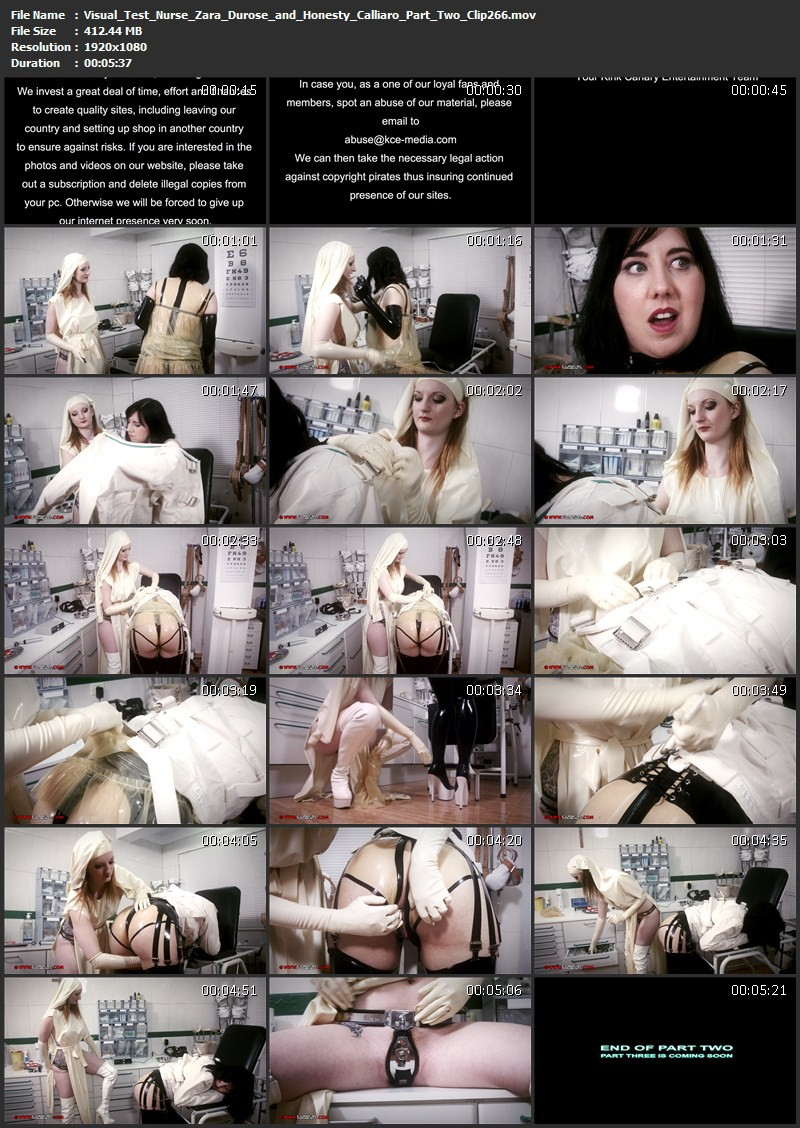 Visual Test - Nurse Zara Durose and Honesty Calliaro Part Two (Clip266). Mar 09 2016. Clinicaltorments.com (412 Mb)