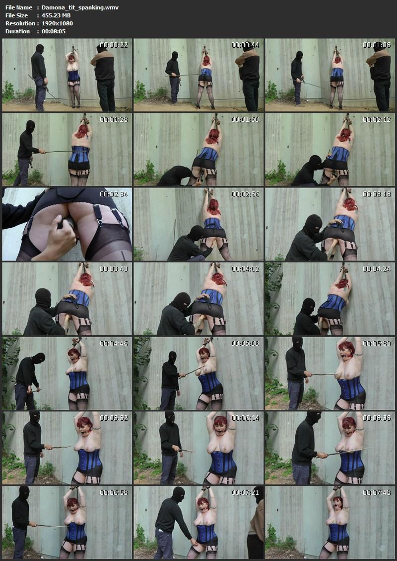 Damona – tit spanking. Amateure-Xtreme.com (455 Mb)