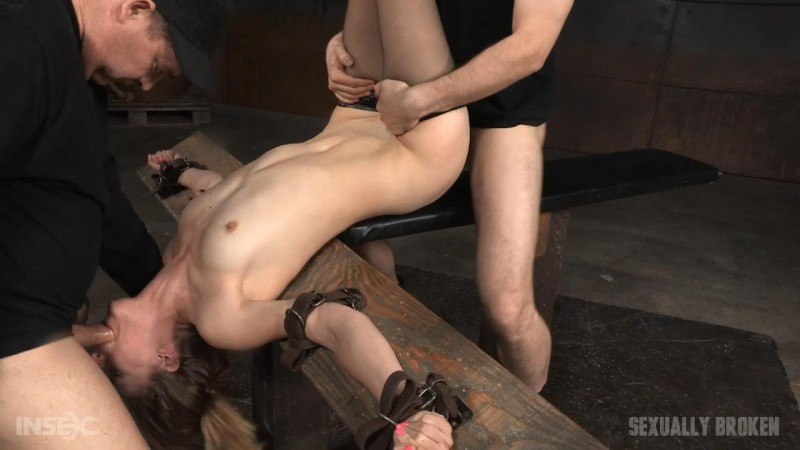 Belt Bdsm - Lean fucktoy belt bound and taken from both ends by cock - Mona Wales. May