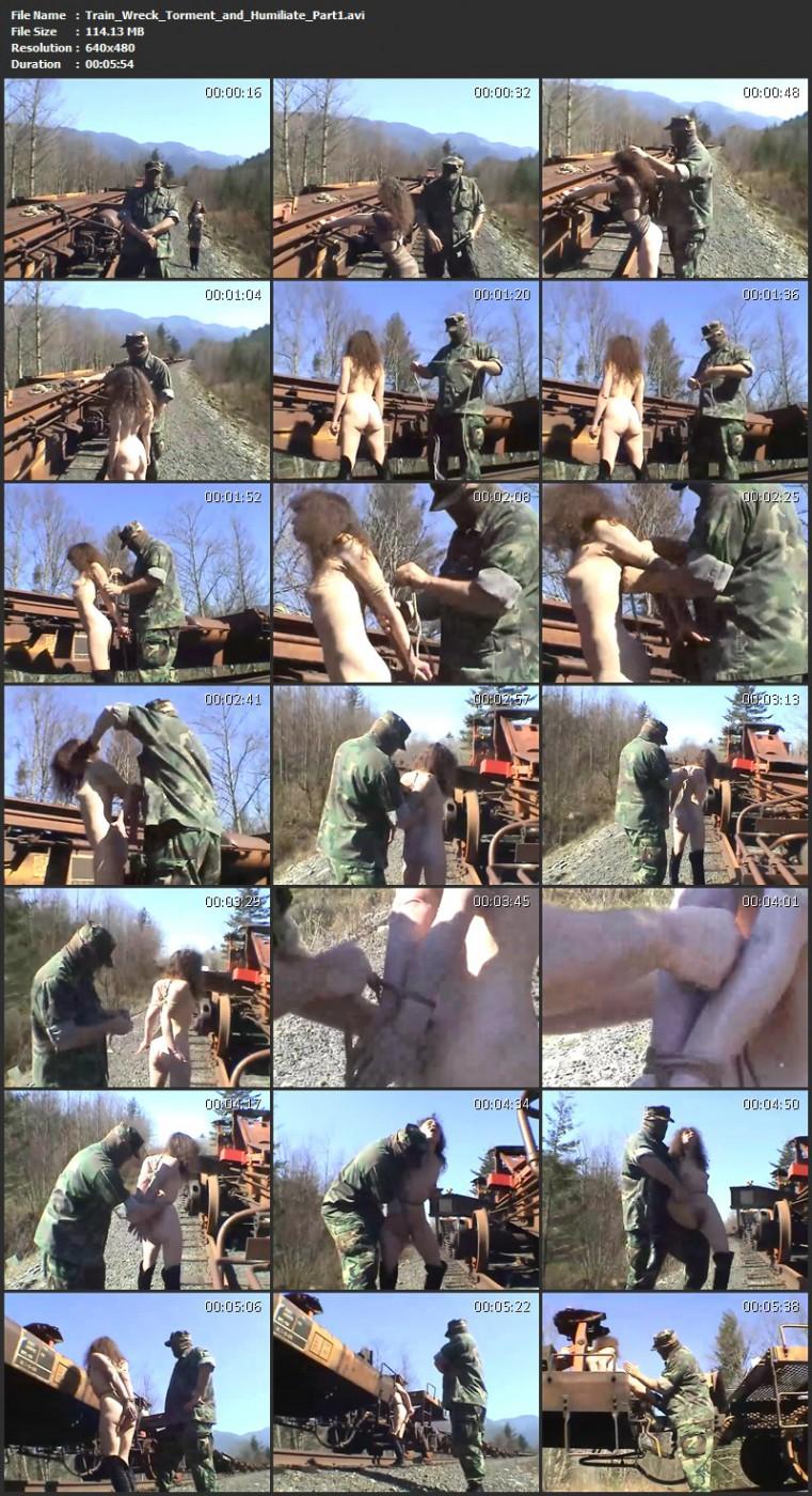 Train Wreck – Torment and Humiliate. BackDoorBondage.com (521 Mb)