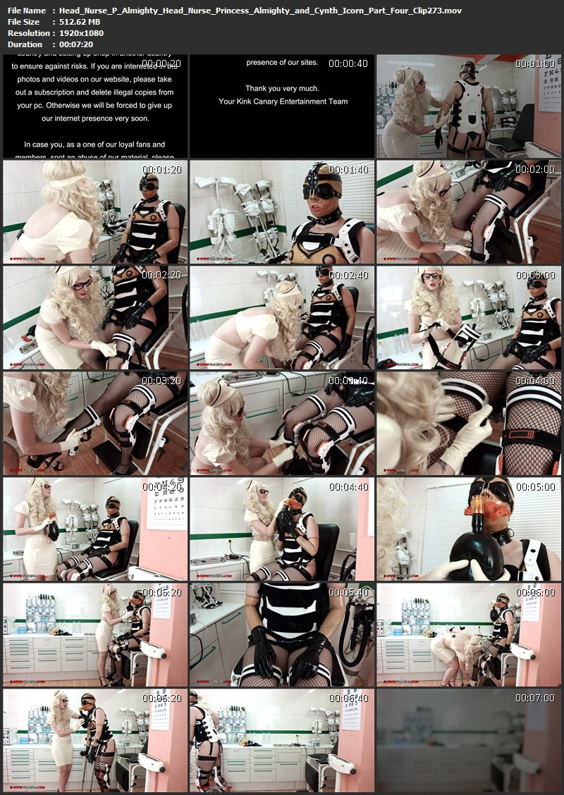 Head Nurse P. Almighty - Head Nurse Princess Almighty and Cynth Icorn Part Four (Clip273). May 10 2016. Clinicaltorments.com (512 Mb)