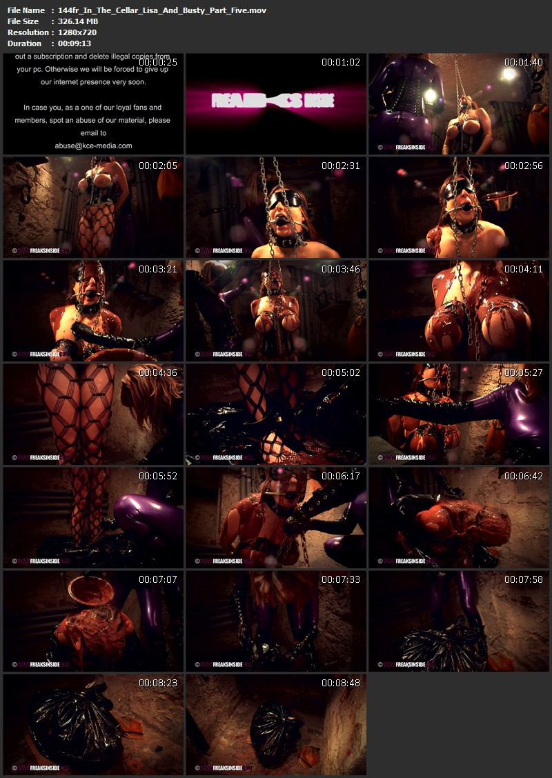 In The Cellar – Lisa And Busty Part Five. Dec 18 2014. Freaksinside.com (326 Mb)