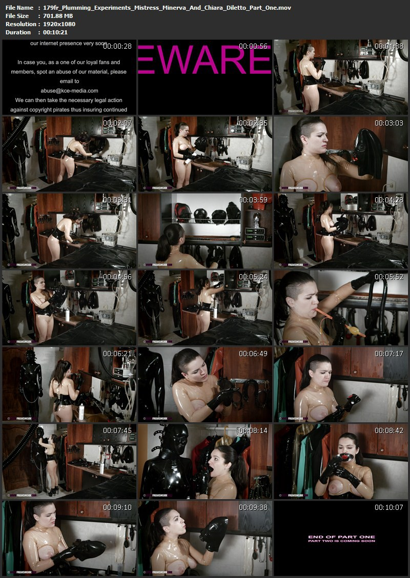 Plumming Experiments – Mistress Minerva And Chiara Diletto Part One. Sep 30 2015. Freaksinside.com (701 Mb)