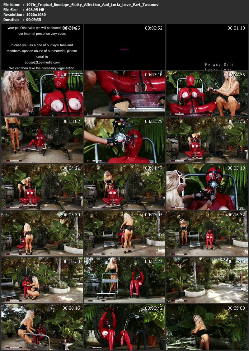 Tropical Bondage – Slutty Affection And Lucia Love Part Two. Feb 24 2016. Freaksinside.com (693 Mb)
