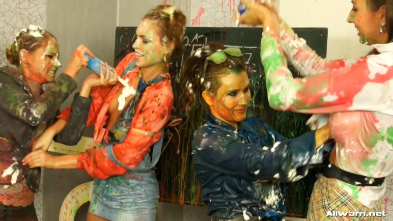 Learning A Very Messy Lesson – Tatiana Milovani, Kitty Jane, Zuzana Z, Jenny De Lugo. 06.12.2012. AllWam.net (477 Mb)