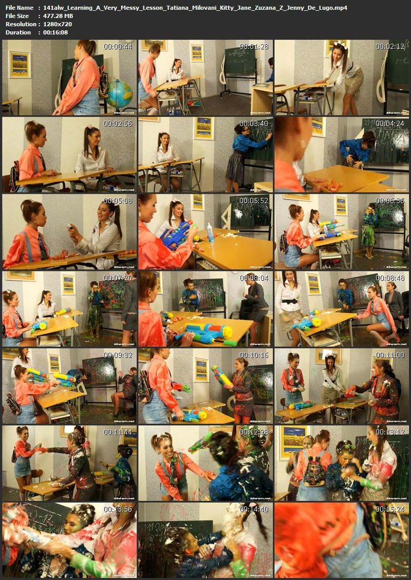 Learning A Very Messy Lesson – Tatiana Milovani, Kitty Jane, Zuzana Z, Jenny De Lugo. 06.12.2012. AllWam.net (477 Mb)
