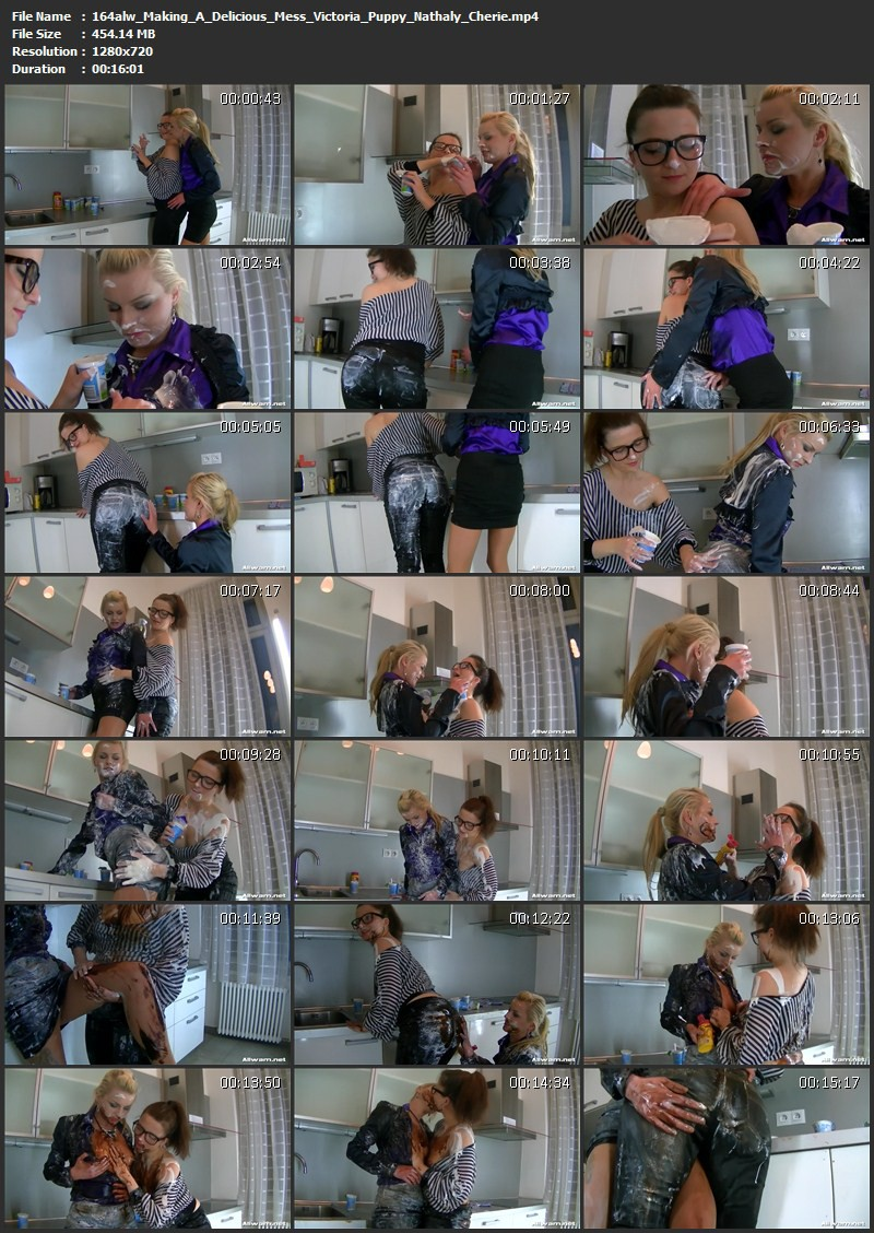 Making A Delicious Mess – Victoria Puppy, Nathaly Cherie. 01.05.2014. AllWam.net (454 Mb)