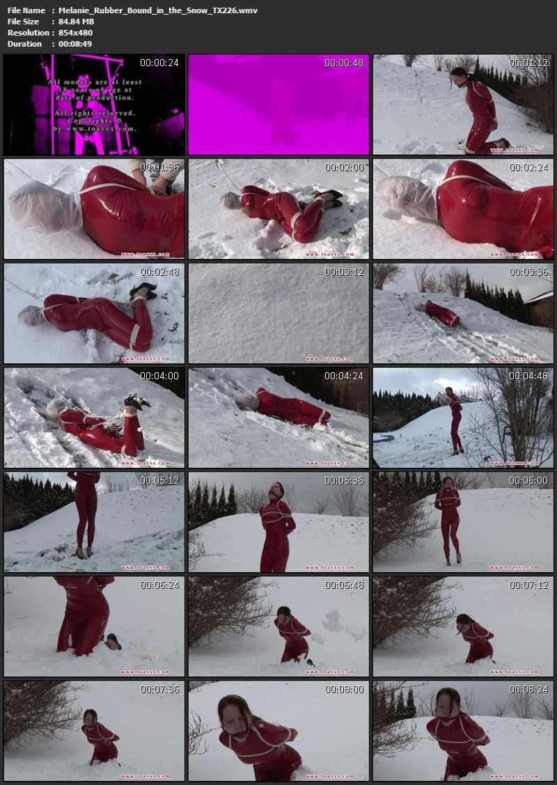 Melanie – Rubber Bound in the Snow (TX226). Apr 27 2016. Toaxxx.com (84 Mb)