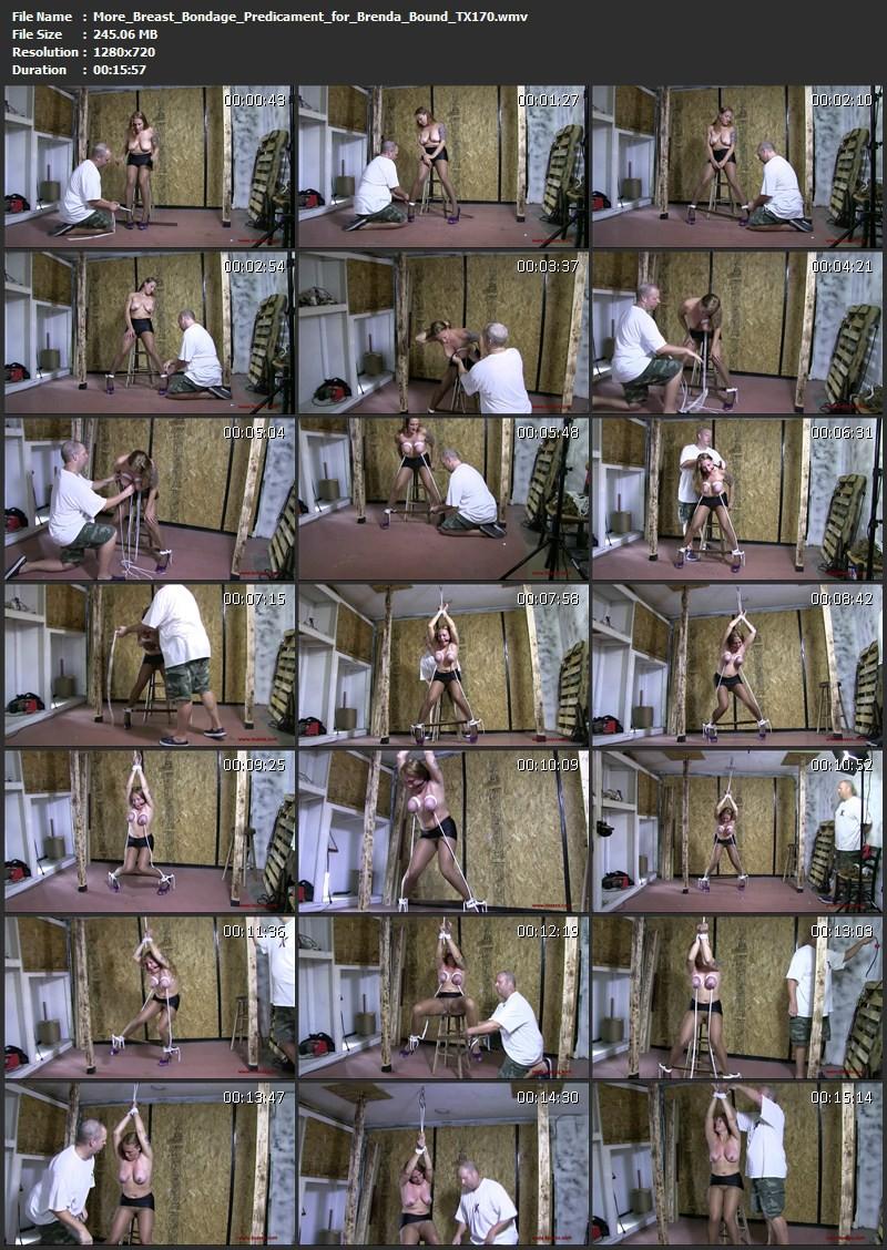 More Breast Bondage Predicament for Brenda Bound (TX170). Oct 14 2015. Toaxxx.com (245 Mb)