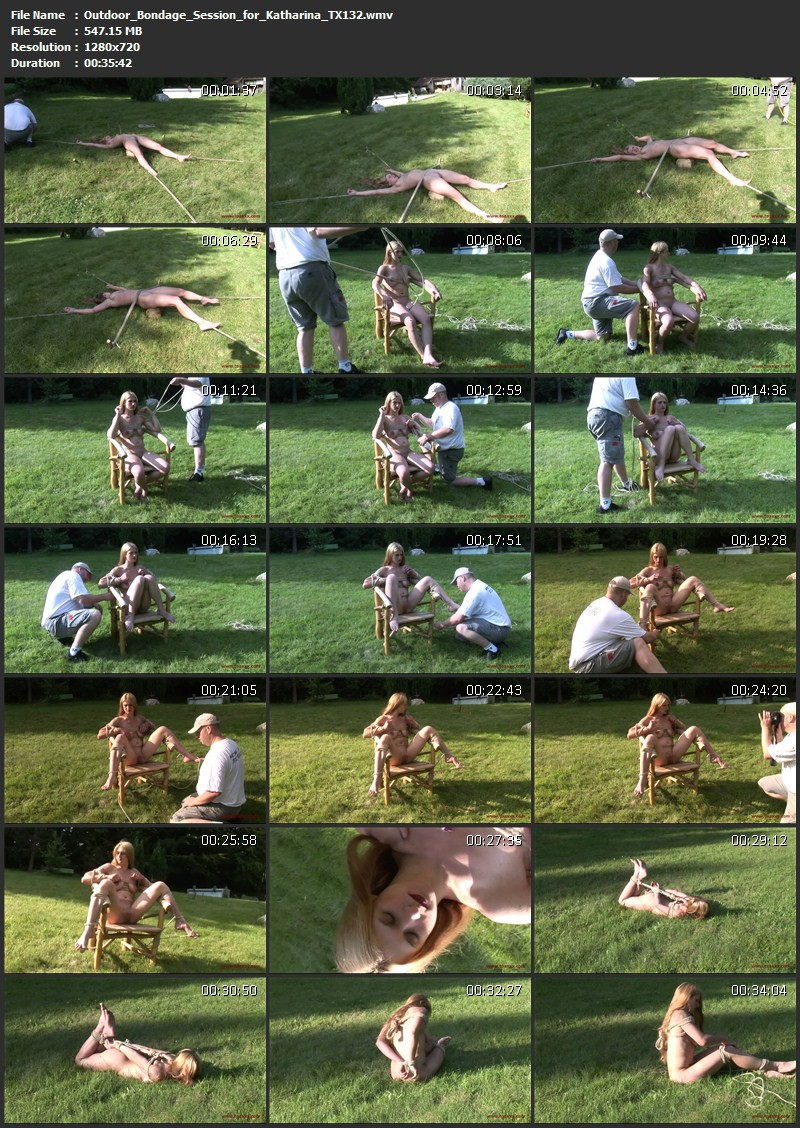 Outdoor Bondage Session for Katharina (TX132). May 30 2015. Toaxxx.com (547 Mb)