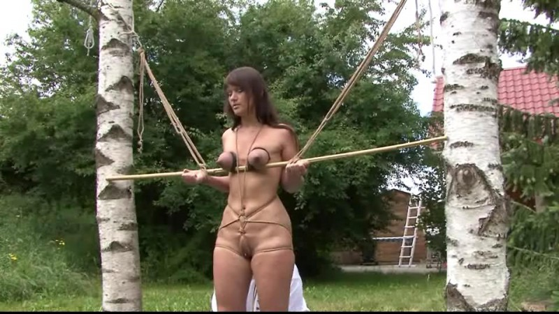 Outdoor Breast Bondage for Yvette (TX036). Jan 25 2014. Toaxxx.com (404 Mb)
