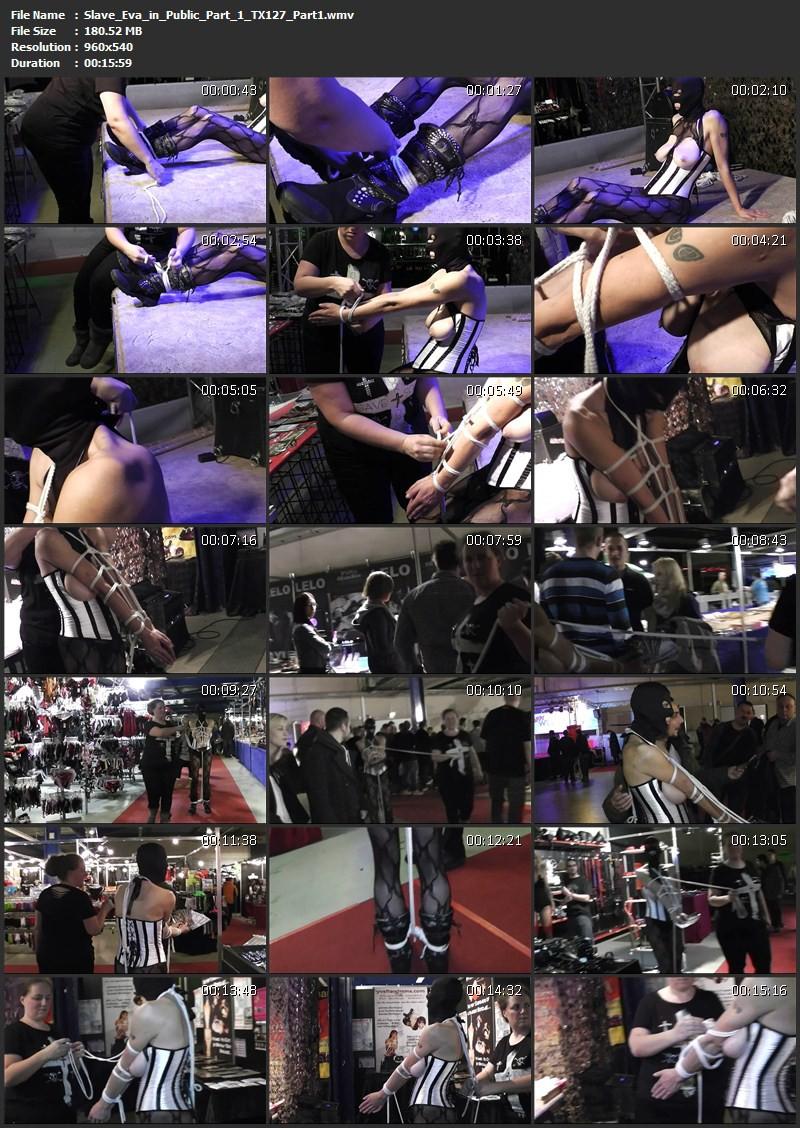Slave Eva in Public Part 1 (TX127). May 13 2015. Toaxxx.com (661 Mb)