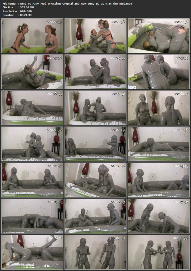 Amy vs Amy Mud Wrestling - Original and New Amy go at it in the mud. Jan 23 2017. Messygirl.com (337 Mb)