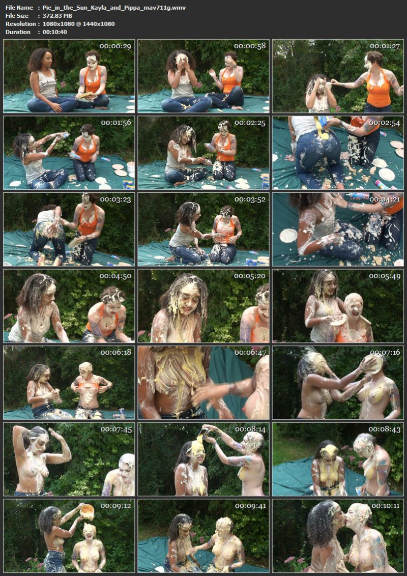 Pie in the Sun - Kayla and Pippa (mav711g). Oct 02 2016. Messyangel.com (372 Mb)
