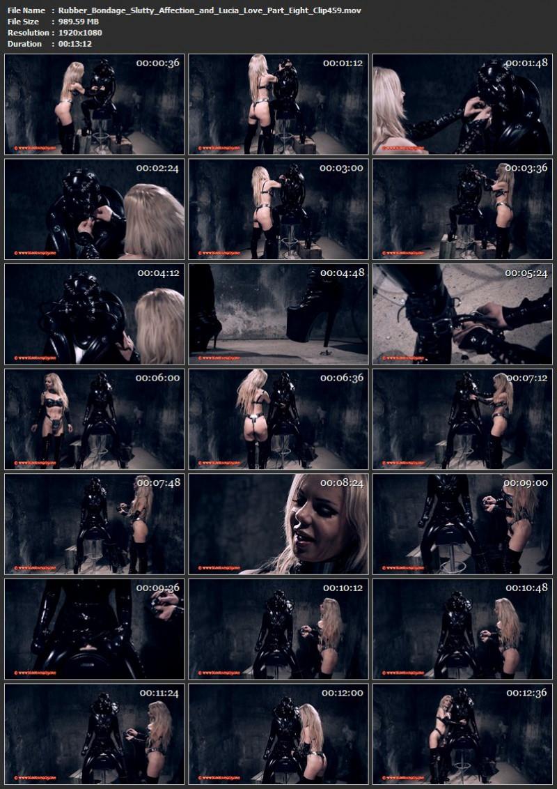 Rubber Bondage – Slutty Affection and Lucia Love Part Eight (Clip 459). Dec 10 2016. Bloodangels.com (989 Mb)