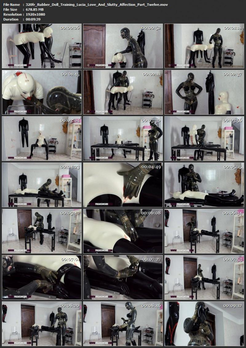 Rubber Doll Training – Lucia Love And Slutty Affection Part Twelve. Mar 11 2017. Freaksinside.com (678 Mb)
