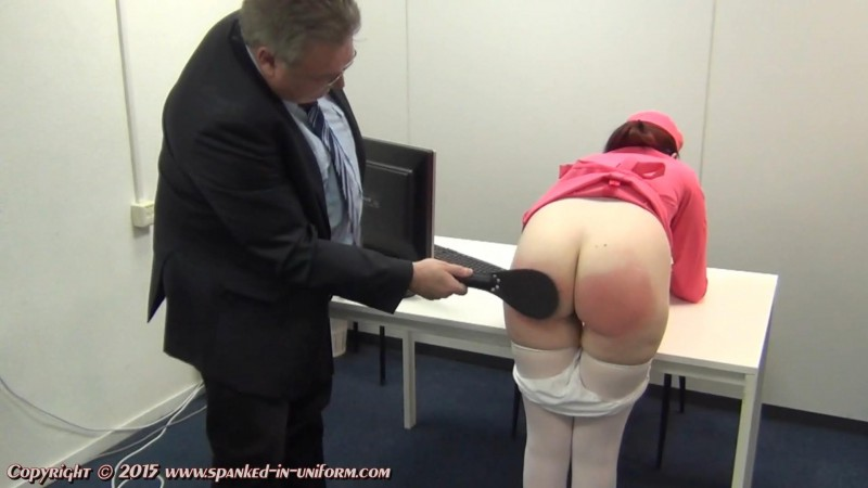 Europe Airlines Episode Thirty Five - Sacha In Trouble. Spanked-in-uniform.com (282 Mb)
