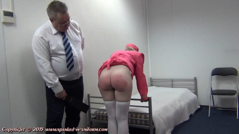 Europe Airlines Episode Thirty Six - Strapped For Rudeness. Spanked-in-uniform.com (395 Mb)
