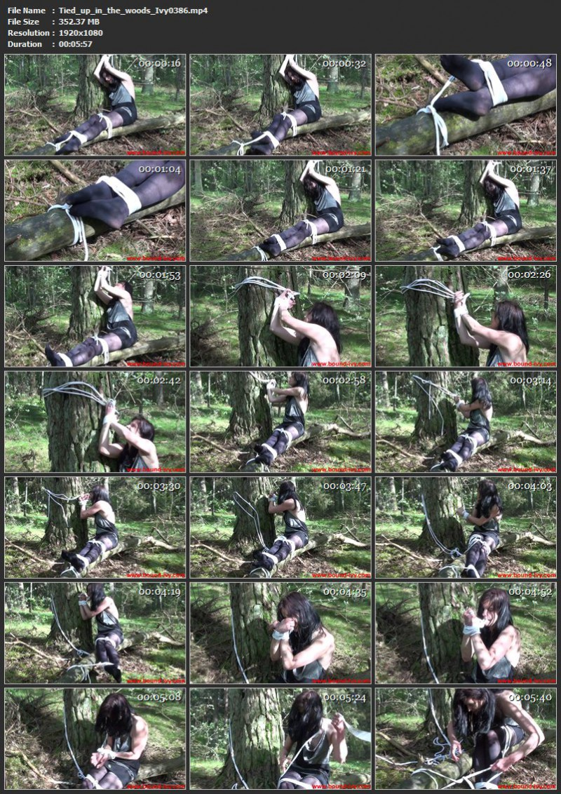 Tied up in the woods (Ivy0386). Bound-ivy.com (352 Mb)