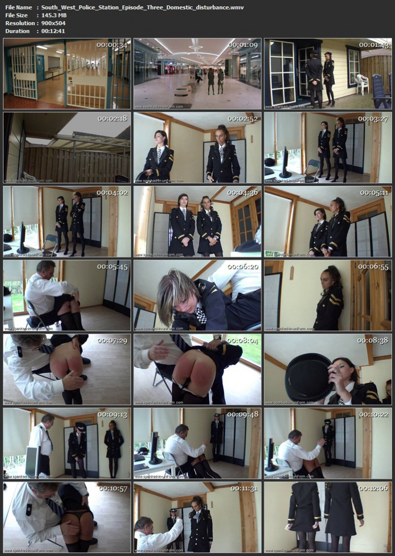 South-West Police Station Episode Three - Domestic disturbance. Spanked-in-uniform.com (145 Mb)