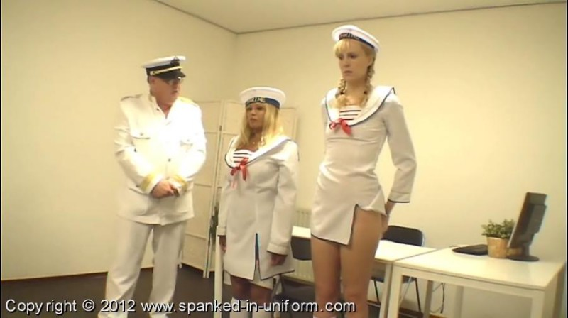 Southport Naval Academy Episode Eight - The Flag Ceremony. Spanked-in-uniform.com (171 Mb)