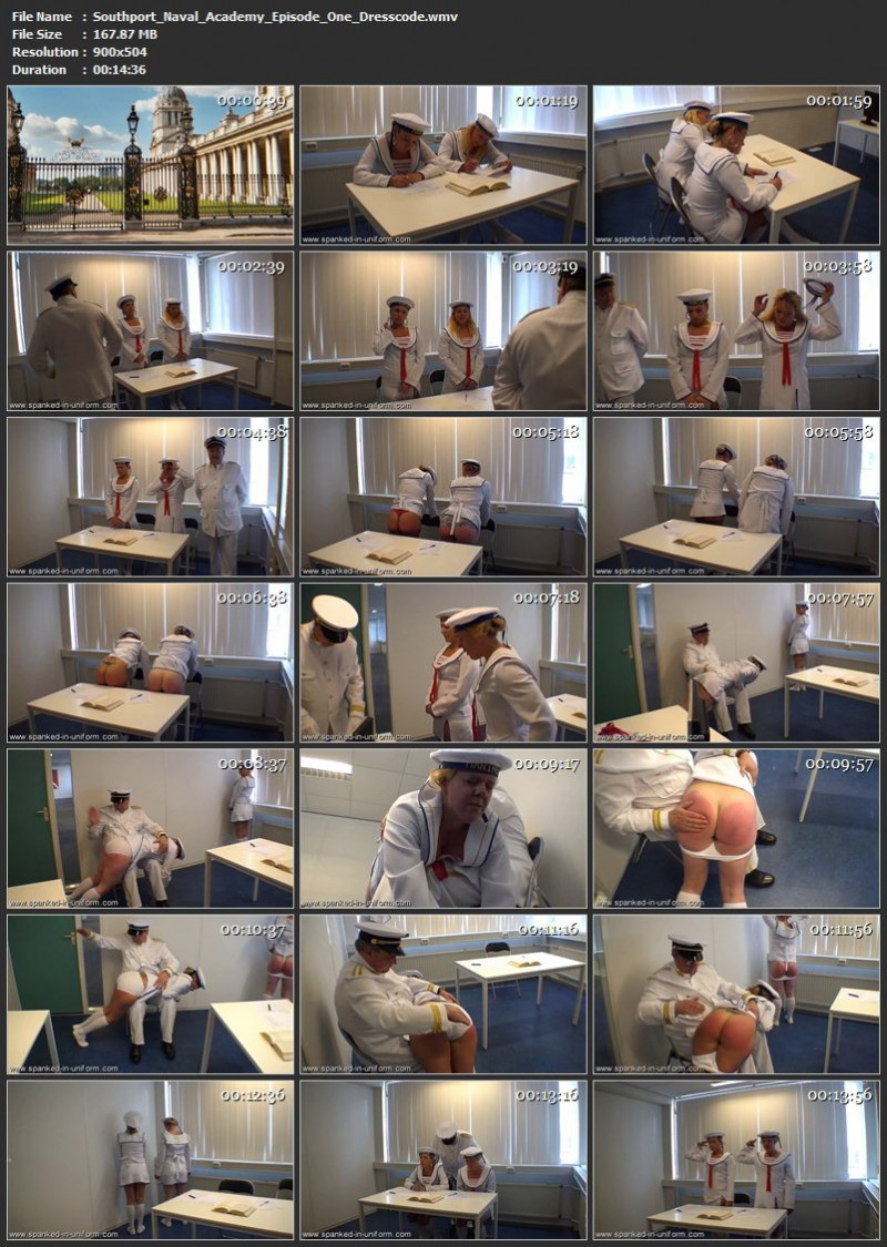 Southport Naval Academy Episode One - Dresscode. Spanked-in-uniform.com (167 Mb)