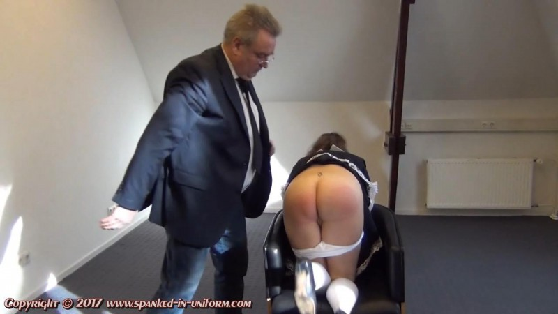 The Sexy Maid Cleaning Agency Episode Twenty - No Mobile At Work! Part One. Spanked-in-uniform.com (219 Mb)