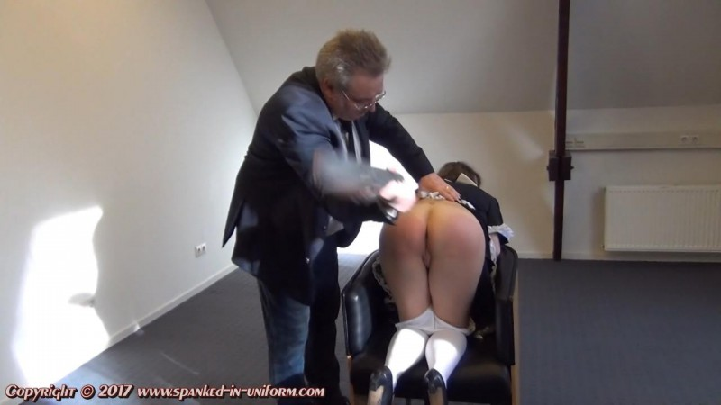 The Sexy Maid Cleaning Agency Episode Twenty One - No Mobile At Work! Part Two. Spanked-in-uniform.com (120 Mb)