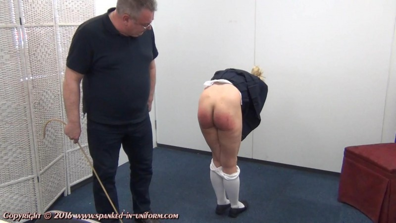 St. Catherines Private School For Girls Episode Ninety One - Ivey Gets Caned Again. Spanked-in-uniform.com (195 Mb)