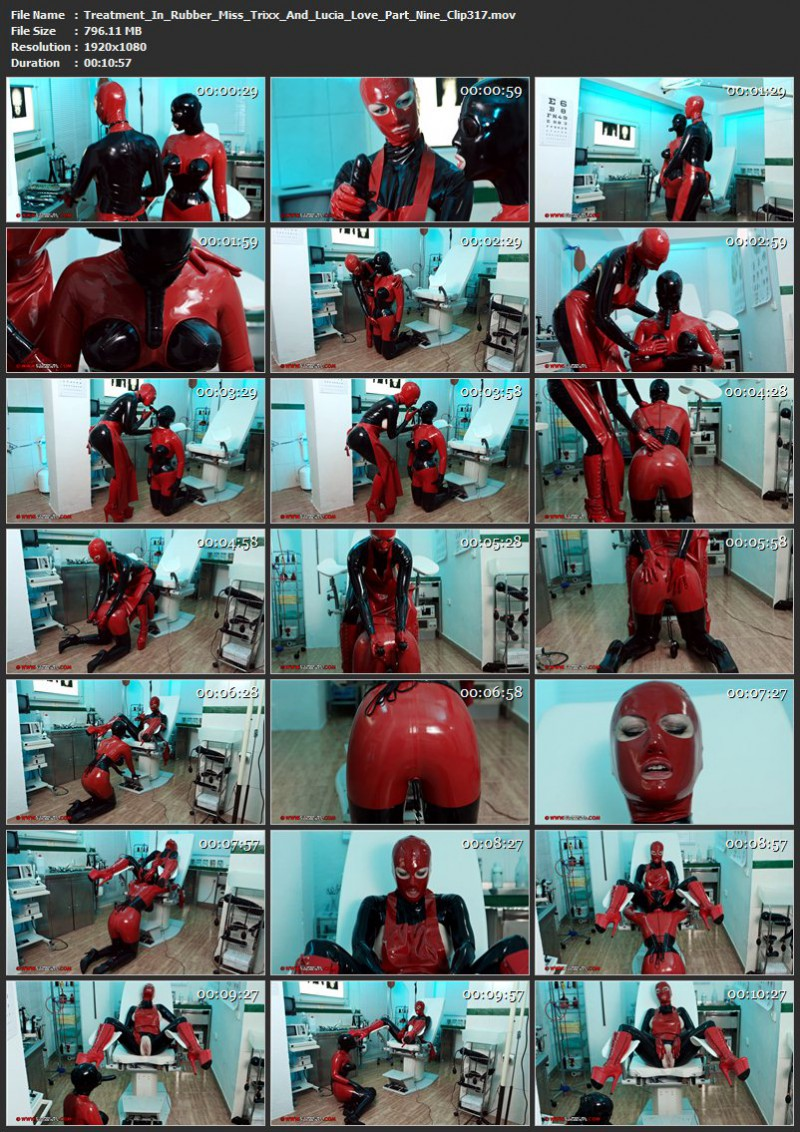 Treatment In Rubber – Miss Trixx And Lucia Love Part Nine (Clip 317). Apr 22 2017. Clinicaltorments.com (796 Mb)