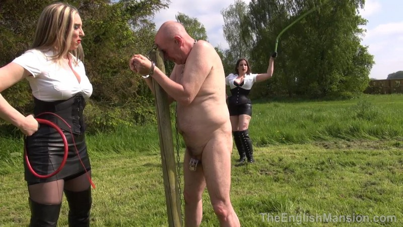 Bullwhipping Bitches – Mistress Evilyne And Mistress Sidonia Part2. TheEnglishMansion.com (389 Mb)