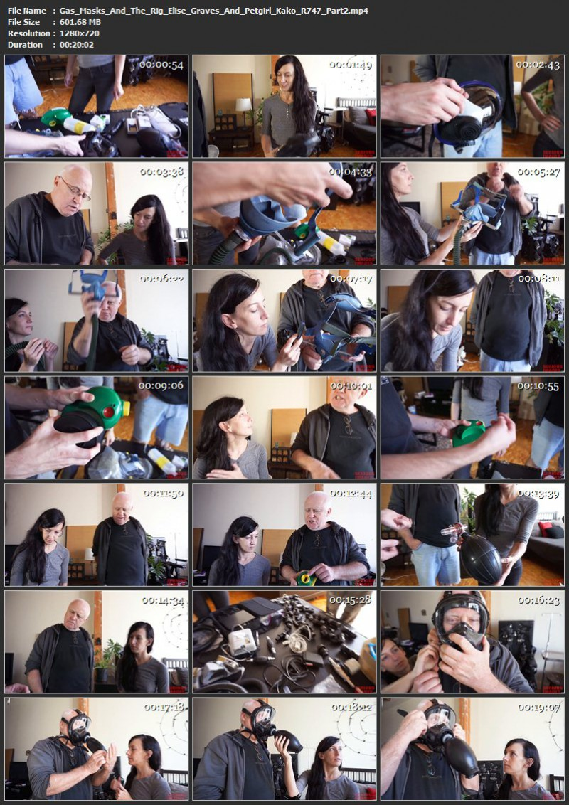 Gas Masks And The Rig – Elise Graves And Petgirl Kako (R747). Jun 26 2017. Seriousimages.com (2773 Mb)