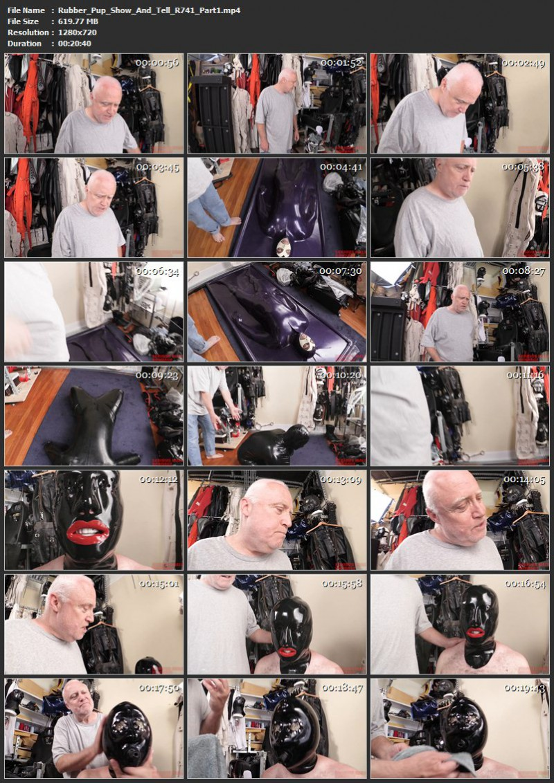 Rubber Pup – Show And Tell (R741). Jun 18 2017. Seriousmalebondage.com (786 Mb)